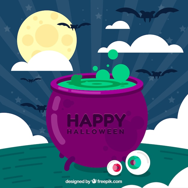 Halloween background with magic potion