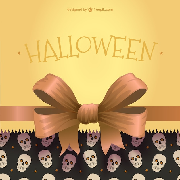 Halloween background with ribbon