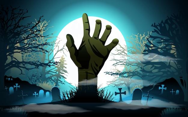 Halloween background. Premium Vector