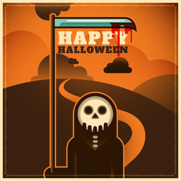 Halloween background Premium Vector