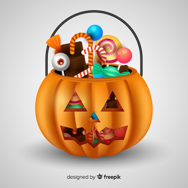 Halloween bag design Free Vector