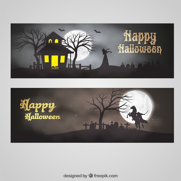 Halloween banner greetings vector free download halloween banner greetings free vector m4hsunfo