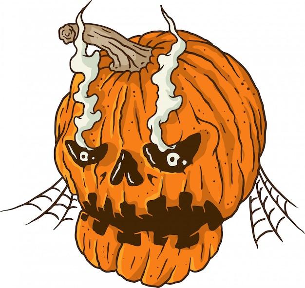 Halloween broken pumpkin Premium Vector