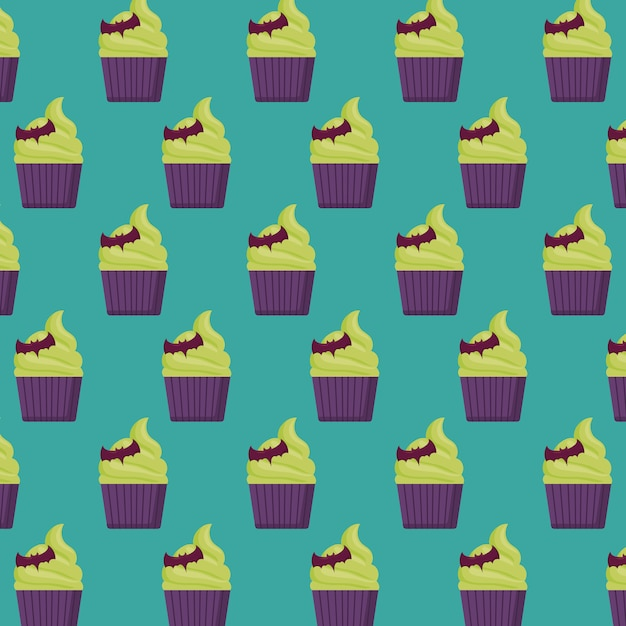 Halloween cake pattern Free Vector