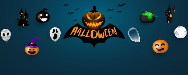 Halloween carnival background Premium Vector