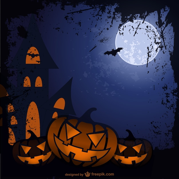 halloween cartoon background free vector - Halloween Background Images Free