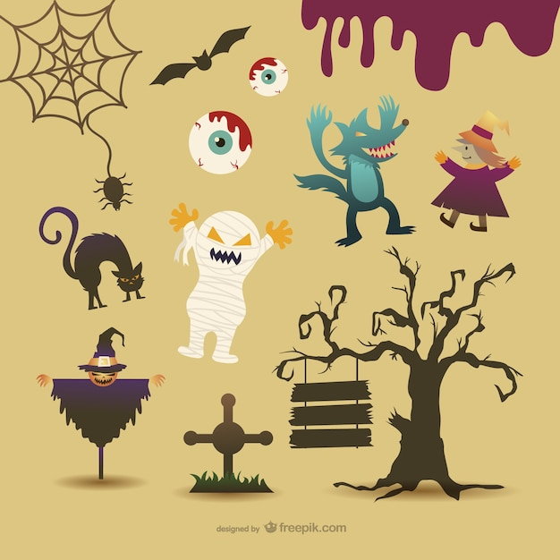 Halloween cartoon characters