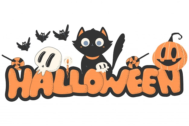 Halloween cartoon . Premium Vector