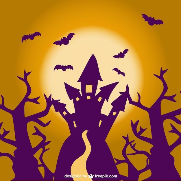 Halloween castle scene