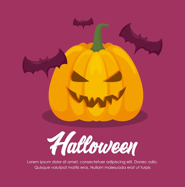 Halloween celebration banner Free Vector