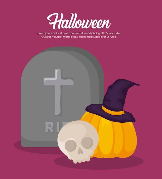 Halloween celebration banner Free Vector
