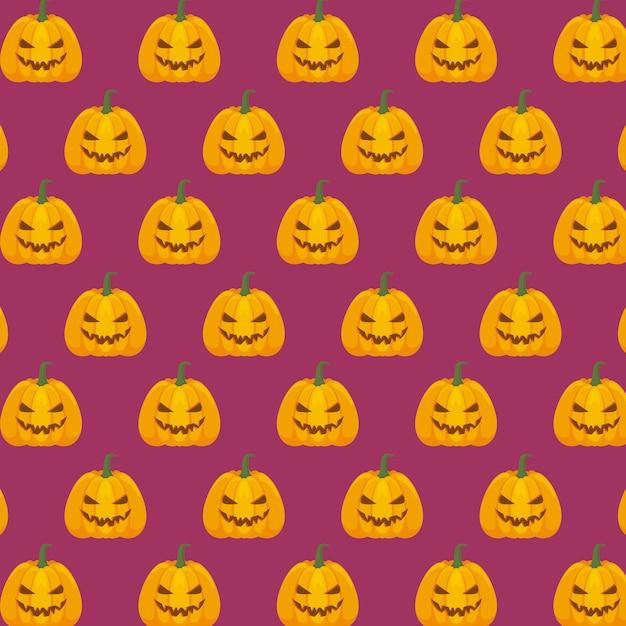Halloween celebration pattern Free Vector