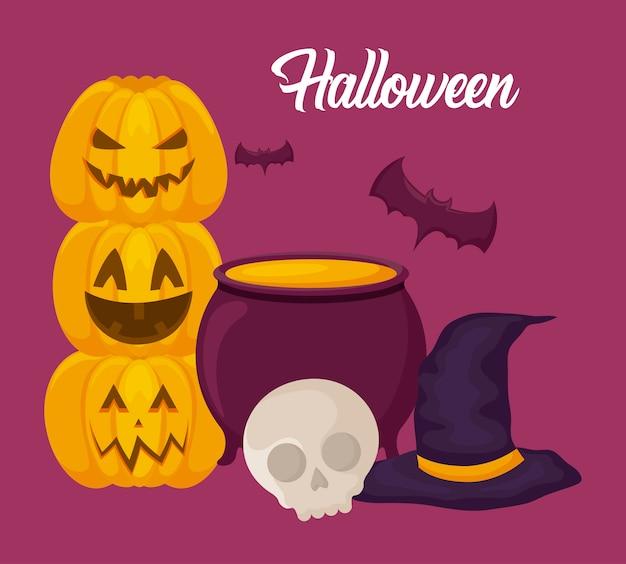 Halloween celebration Free Vector