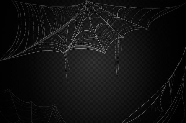 할로윈 거미줄 배경 개념 무료 벡터