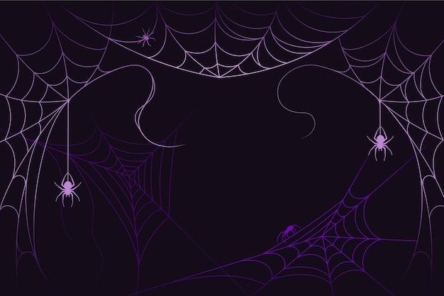 할로윈 거미줄 배경 디자인 프리미엄 벡터