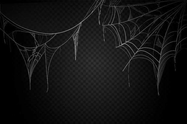 Хэллоуин паутина дизайн фона Бесплатные векторы
