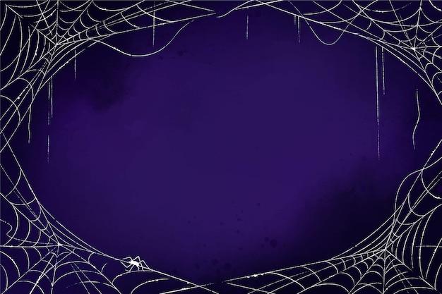 ハロウィーンの蜘蛛の巣の背景 無料ベクター