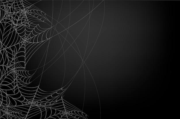 Halloween cobweb background Free Vector