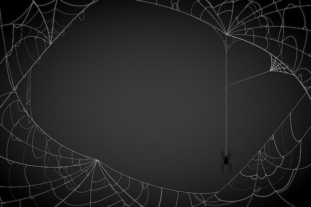 할로윈 거미줄 배경 무료 벡터