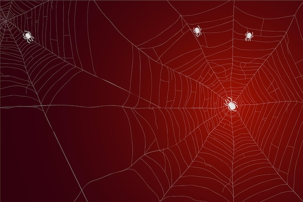 Halloween cobweb wallpaper Free Vector