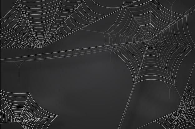 할로윈 거미줄 벽지 무료 벡터