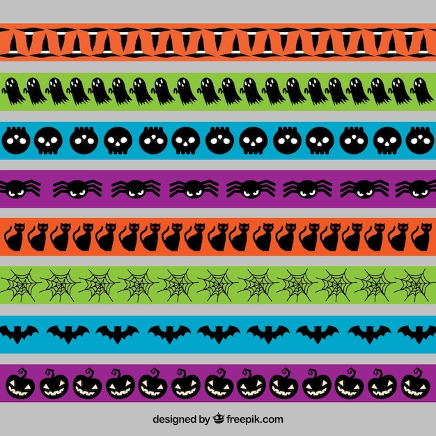 Halloween colored borders pack
