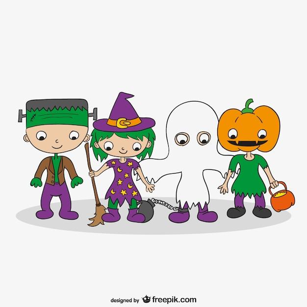 Halloween Costumes Cartoon Vector | Free Download