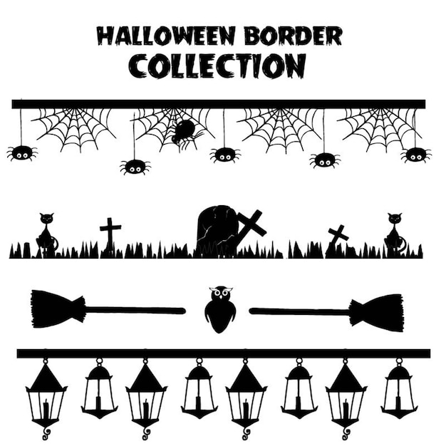 Halloween decoration vector Premium Vector