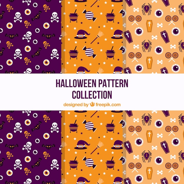 Halloween decorative patterns