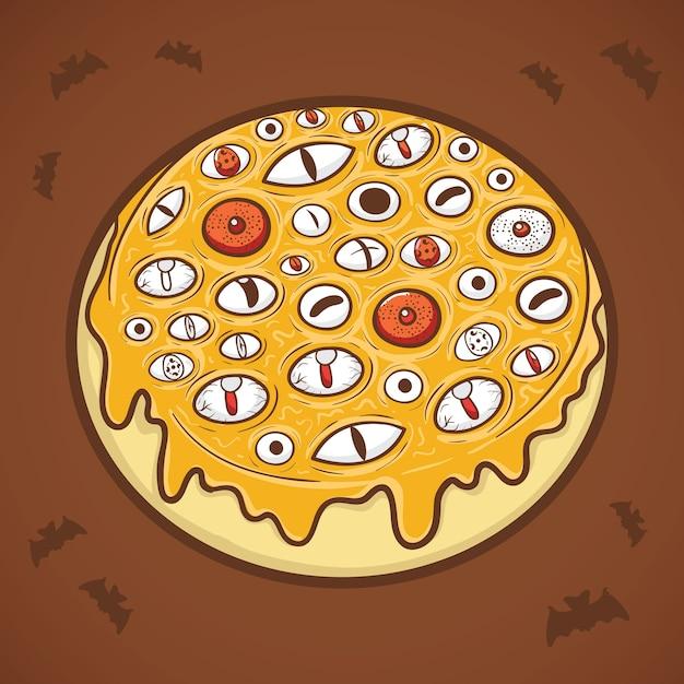 Halloween donut eyes illustration Premium Vector
