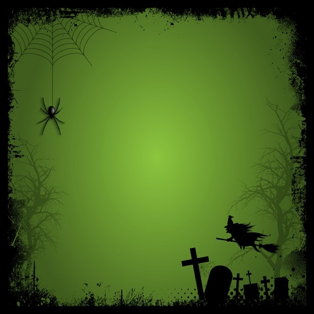 halloween elements on an green background free vector - Halloween Background Images Free