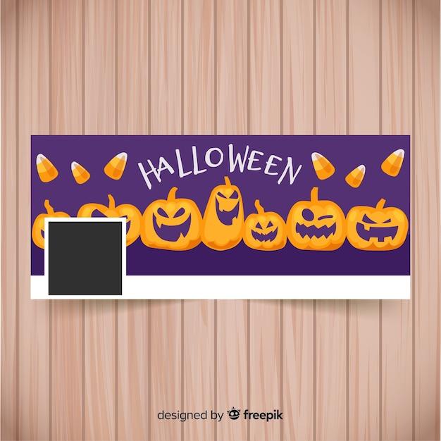 halloween facebook banner template vector free download