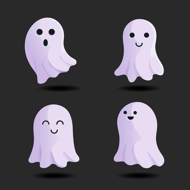 Набор призраков фестиваля хэллоуина Бесплатные векторы