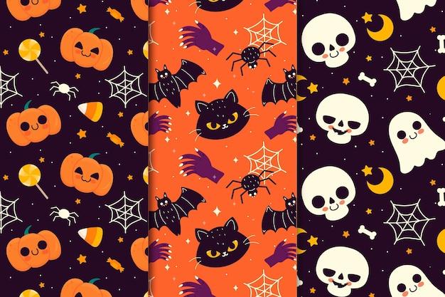 Tema del modello festival di halloween Vettore gratuito