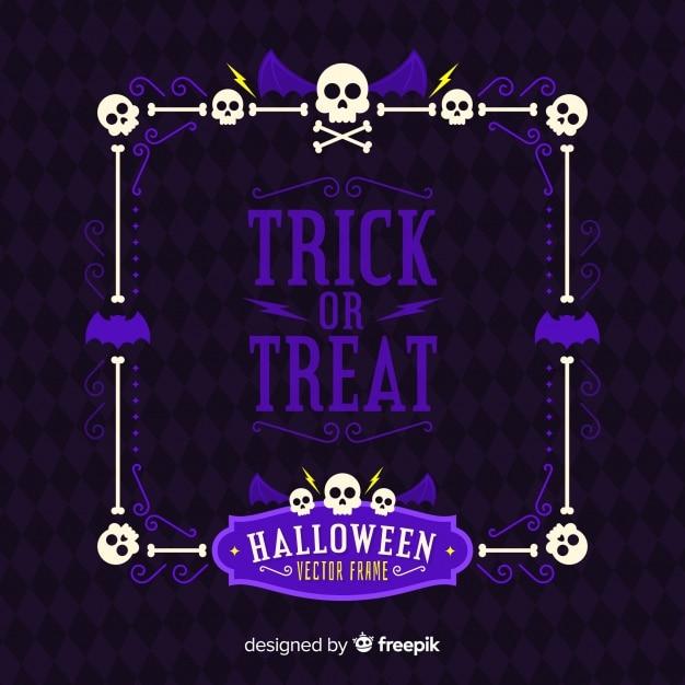 Halloween frame concept Free Vector