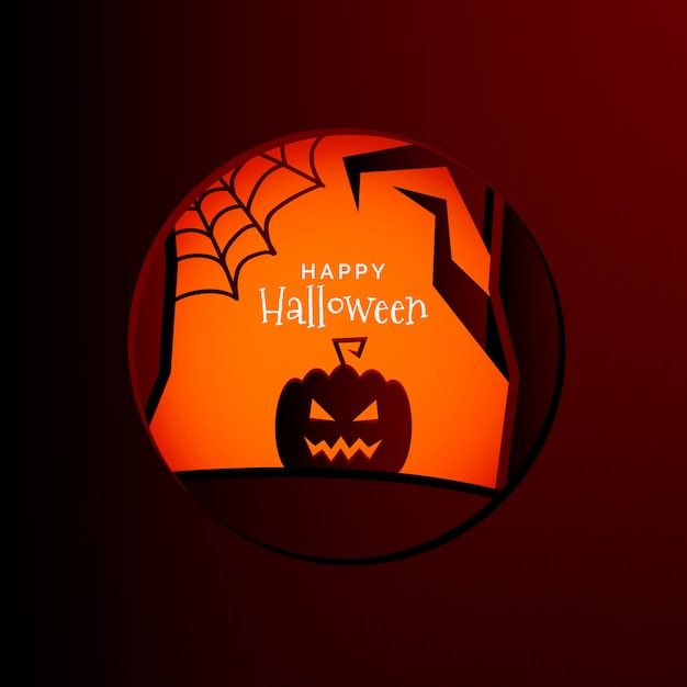 Halloween frame paper background Free Vector