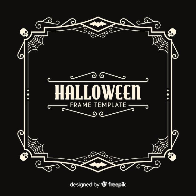 Halloween frame template Free Vector