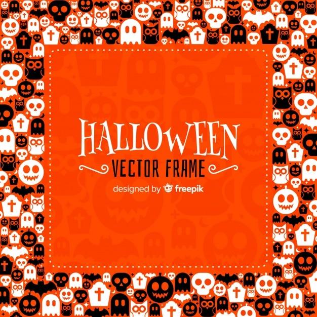 Halloween frame Free Vector
