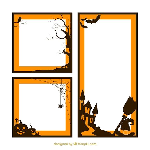 halloween frames pack vector free download