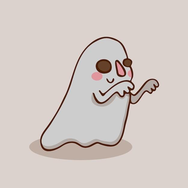 Halloween friendly ghost Premium Vector