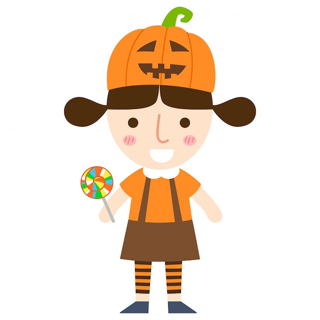Halloween girl vector Premium Vector