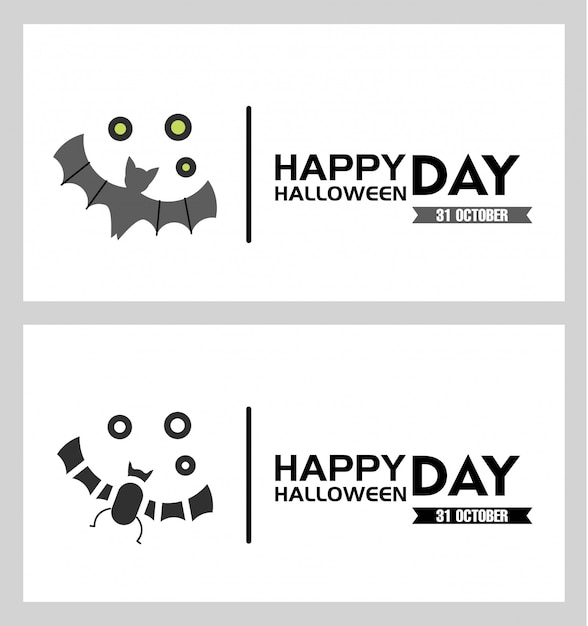 Halloween greeting card Premium Vector