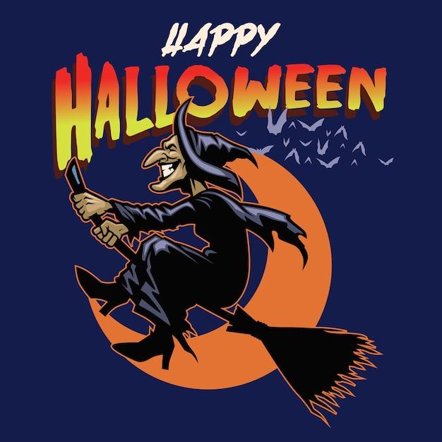 Halloween greeting card Premium Vector