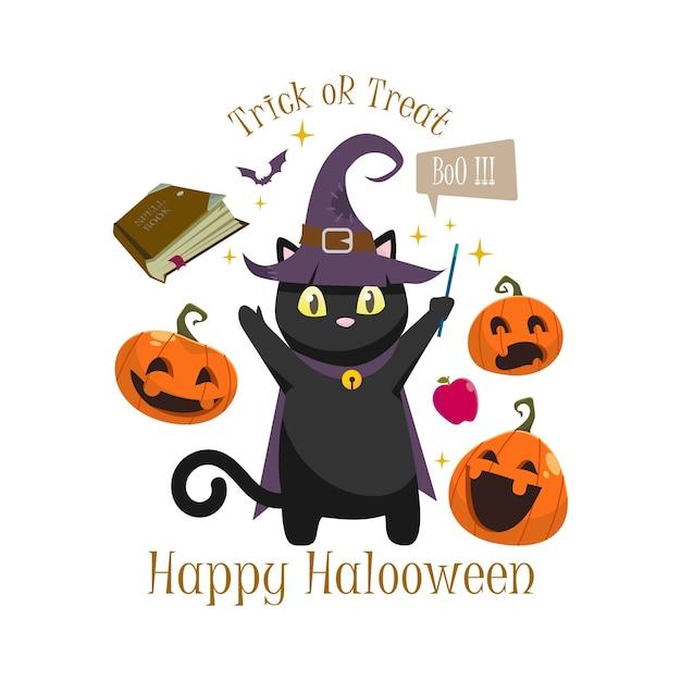 Halloween greeting vector Premium Vector