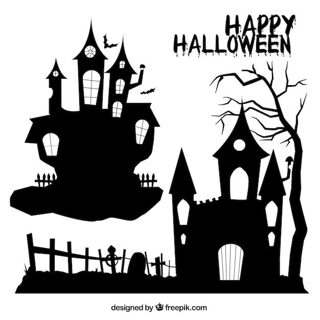 Halloween houses Vector | Premium Download