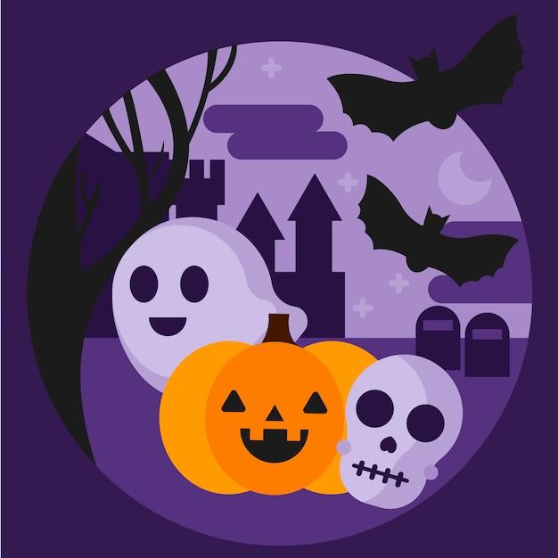 Halloween illustration Free Vector