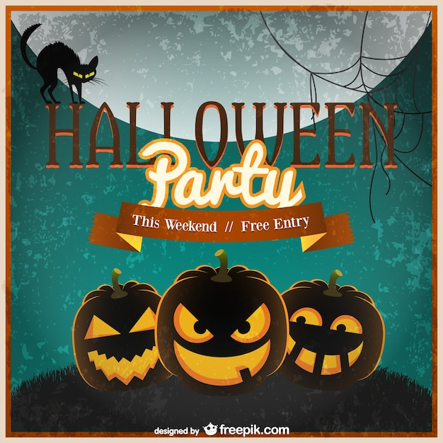halloween invitation template vector free vector - Free Halloween Invite Templates