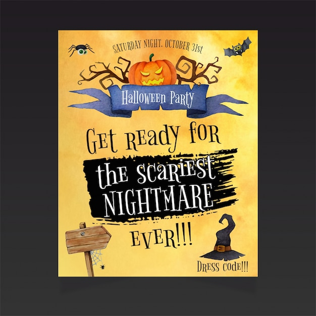 100+ [ Free Halloween Invitation Templates ] | Scary Halloween ...