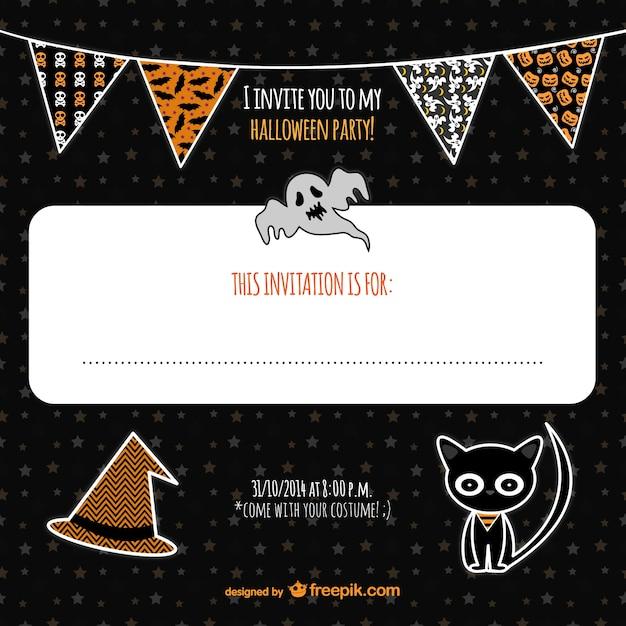 Halloween invitation with garlands vector free download halloween invitation with garlands free vector stopboris Gallery