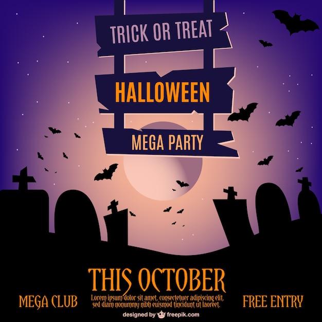 Halloween invitation vector free download halloween invitation free vector stopboris Gallery